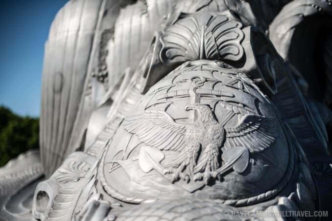 Navy-Marine Memorial in Arlington, VA, Detail