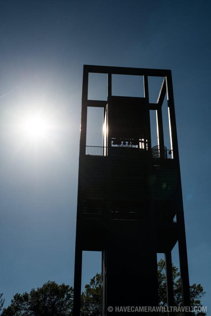 Netherlands Carillon Arlington VA with Sun