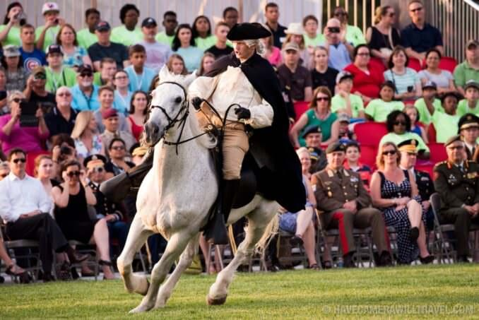 Paul Revere at the Army Twilight Parade at Fort Myer, Virginia