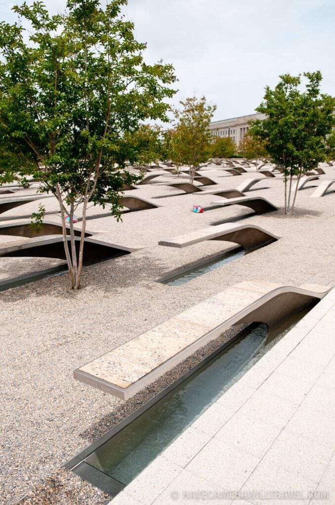 Pentagon Memorial Benches