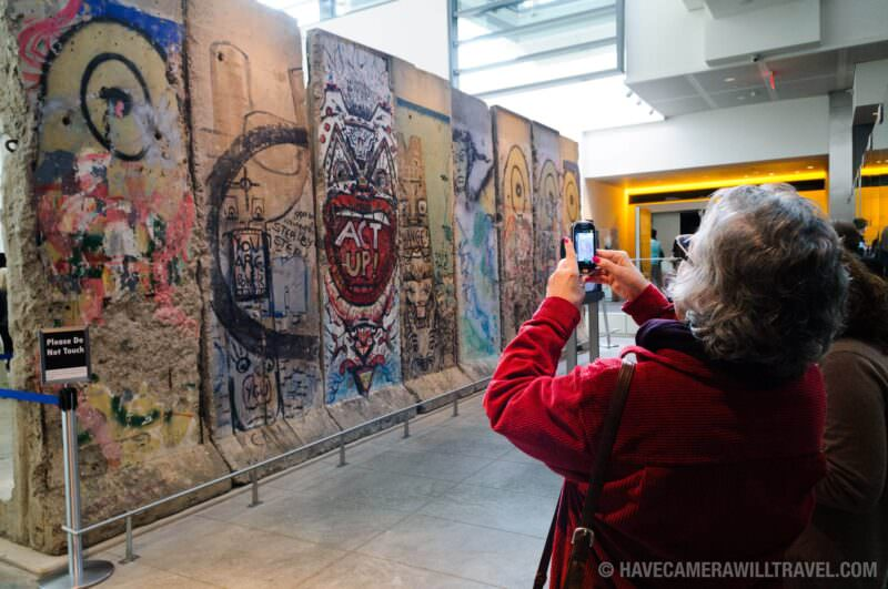 Photo of Berlin Wall at the Newseum