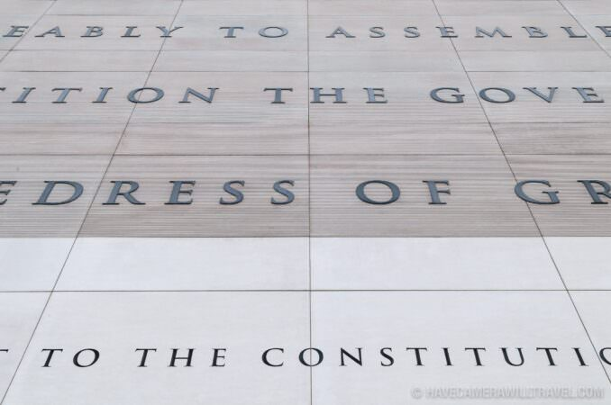 Photo of First Amendment of the Constitution at Newseum Washington DC