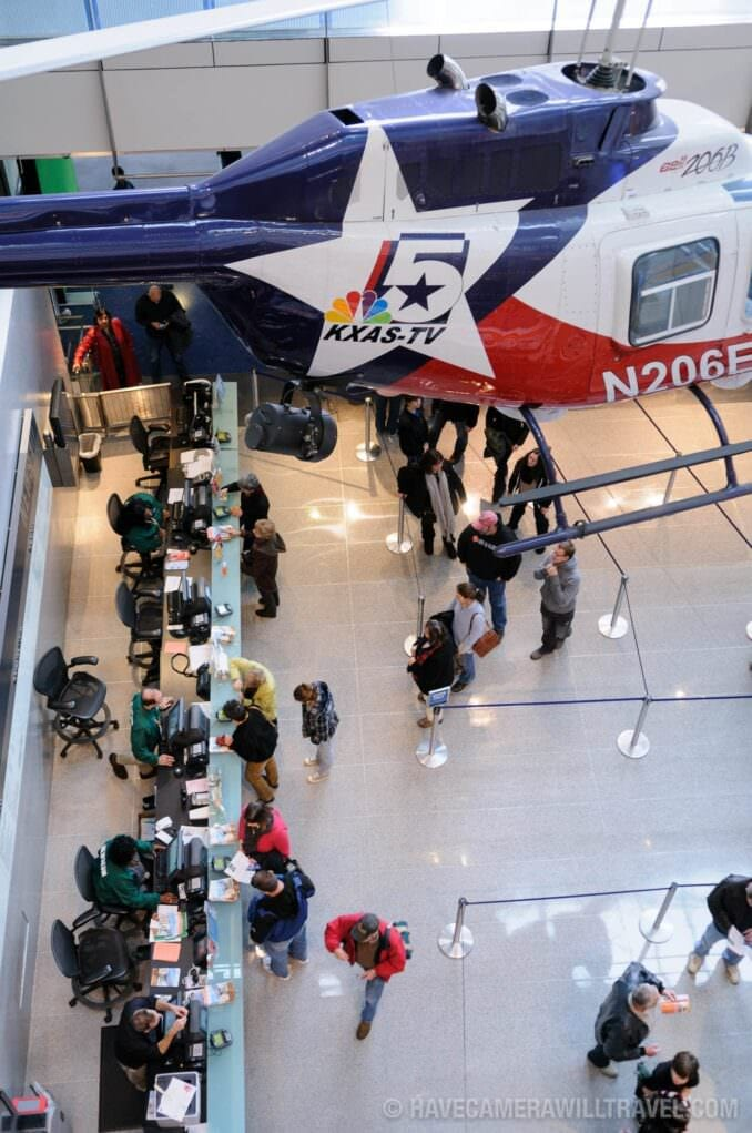 Photo of Newseum News Helicopter and Ticket Counter