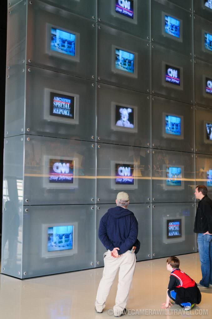 Photo of Newseum TV Screens
