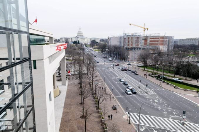 Photo of Newseum view of the US Capitol