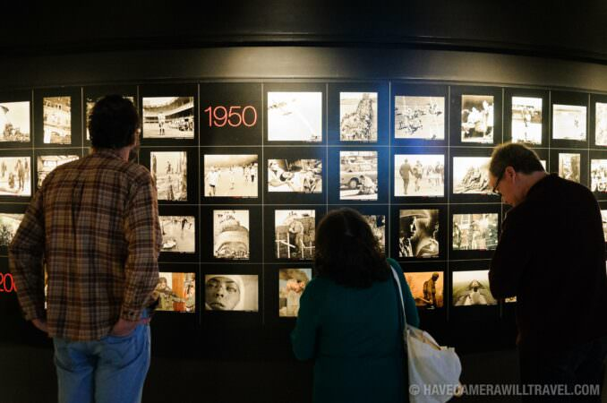 Photo of Tourists at the Photojournalism Gallery in the Newseum