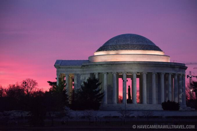 Pink Skies Before Dawn at the Jefferson Memorial in Washington DC