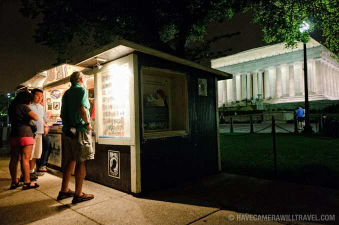 POW stand at the Lincoln Memorial