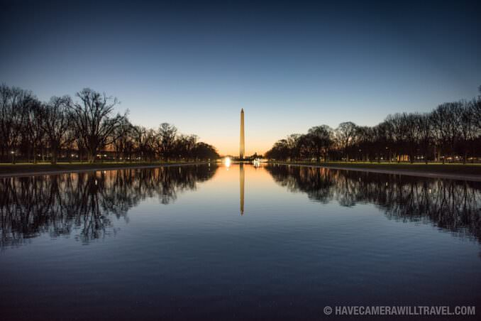 Predawn at the Lincoln Memorial Reflecting Pool