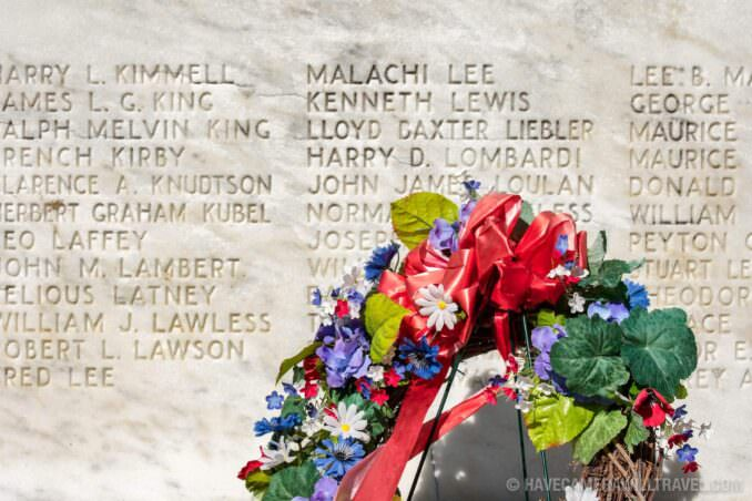 Remembrance Wall at the World War I Memorial in Washington DC