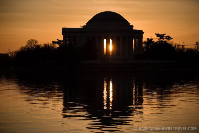 Rising Sun with the Jefferson Memorial in Washington DC