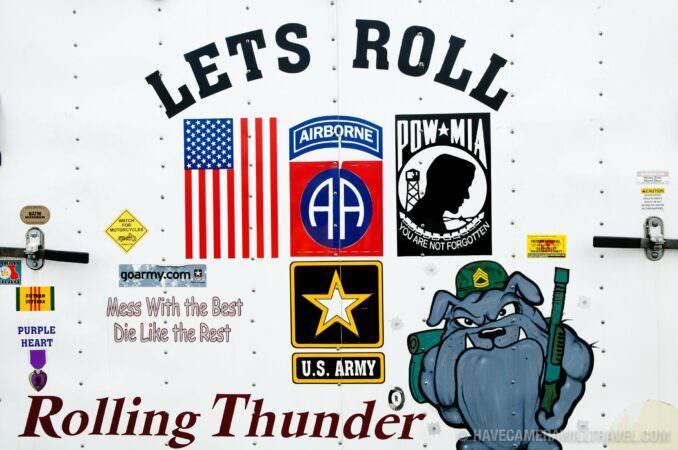 Rolling Thunder Motorcycle Rally Signs and Symbols