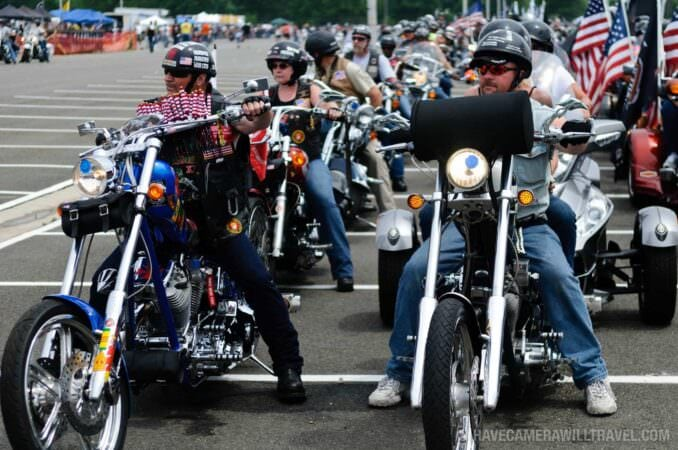 Rolling Thunder Motorcycle Rally Staging Area