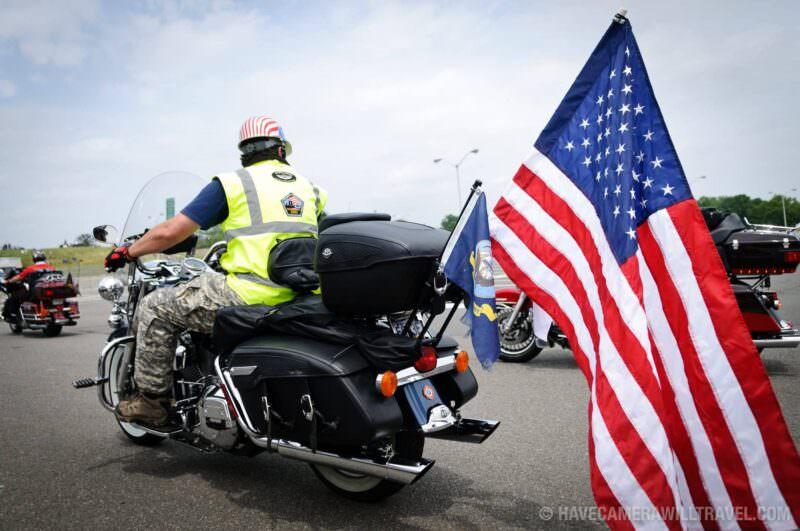 Rolling Thunder Motorcycle Rally USA Flag