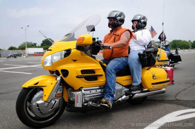Rolling Thunder Motorcycle Rally Yellow Motorbike