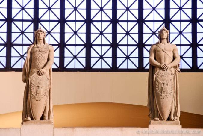 Roman Sentry statues Union Station Washington DC