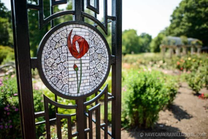 Rose Garden in Arlington Virginia Mosaic