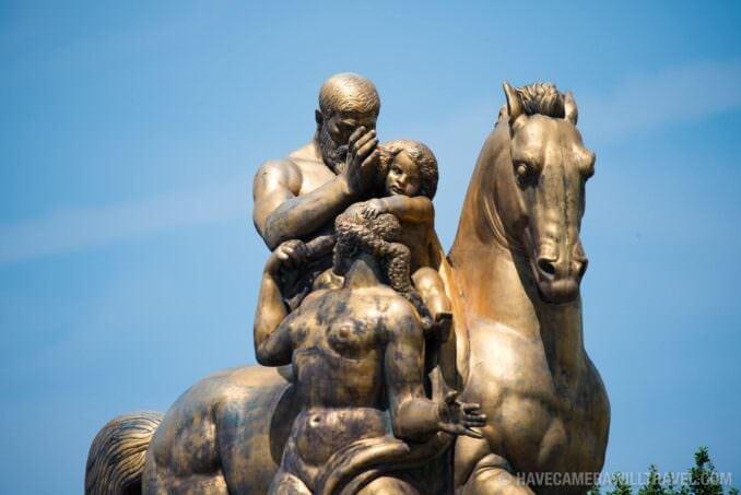 Sacrifice Italian statue on Memorial Bridge, Washington DC