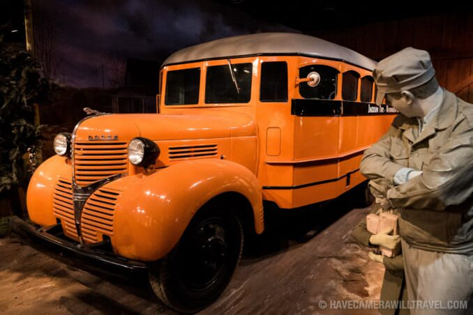 School Bus at Smithsonian American History Museum