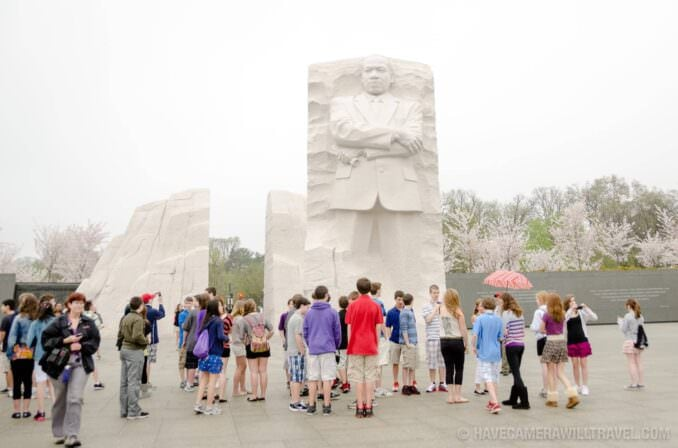 School Group at the Martin Luther King Memorial