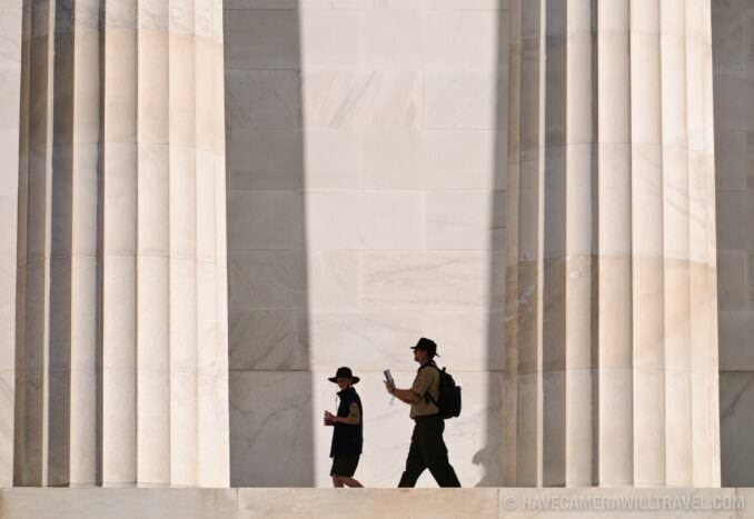 Scouts visiting Lincoln Memorial