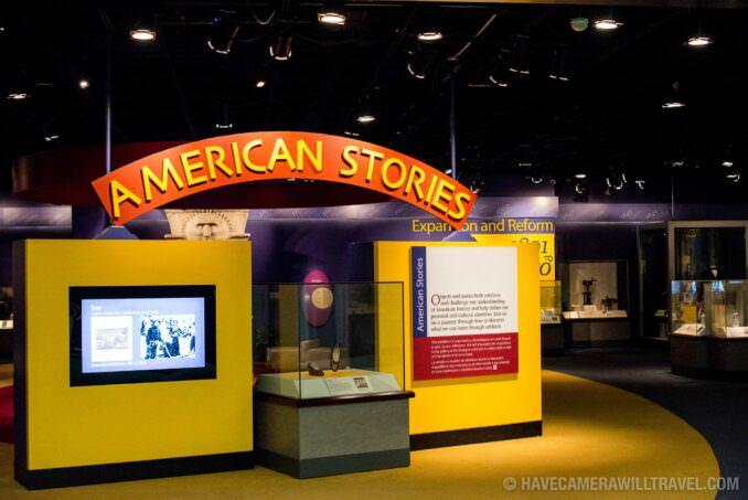 Smithsonian American History Museum American Stories Exhibit