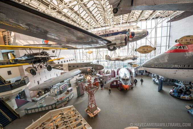 Smithsonian National Air and Space Museum in Washington DC Commercial Aviation Exhibit