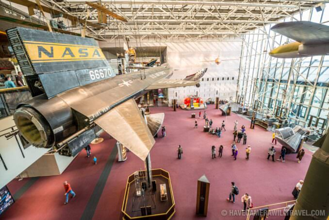Smithsonian National Air and Space Museum in Washington DC Main Foyer