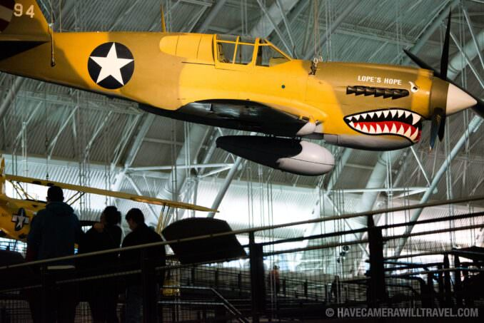 Curtiss P-40E Warhawk (Kittyhawk IA) at the Smithsonian National Air and Space Museum