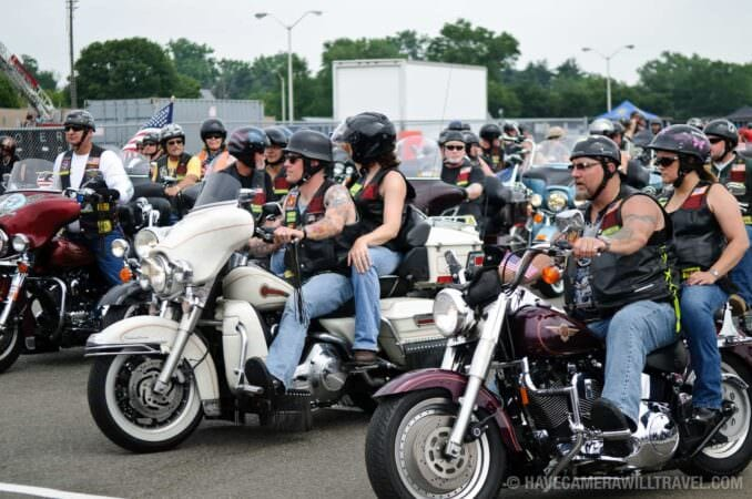 Start of the Rolling Thunder Motorcycle Rally