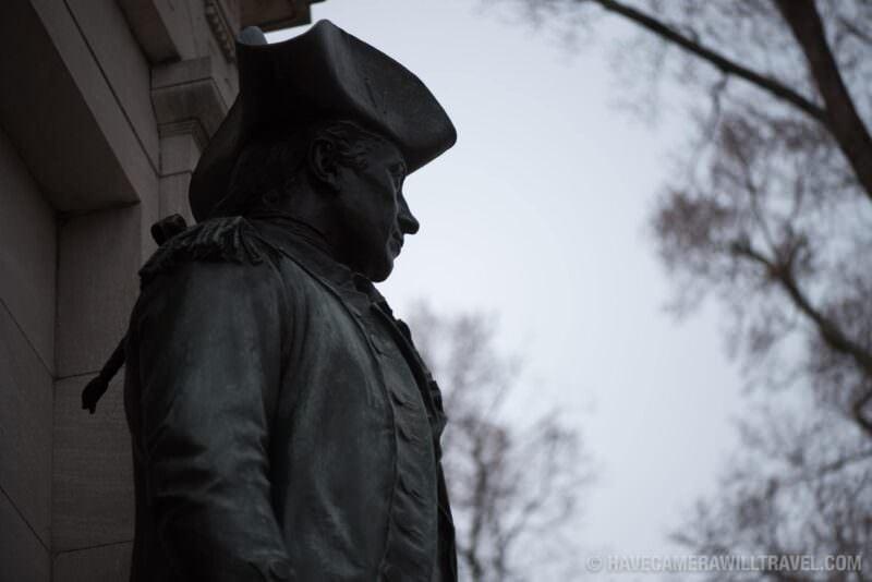 Statue at the John Paul Jones Memorial in Washington DC