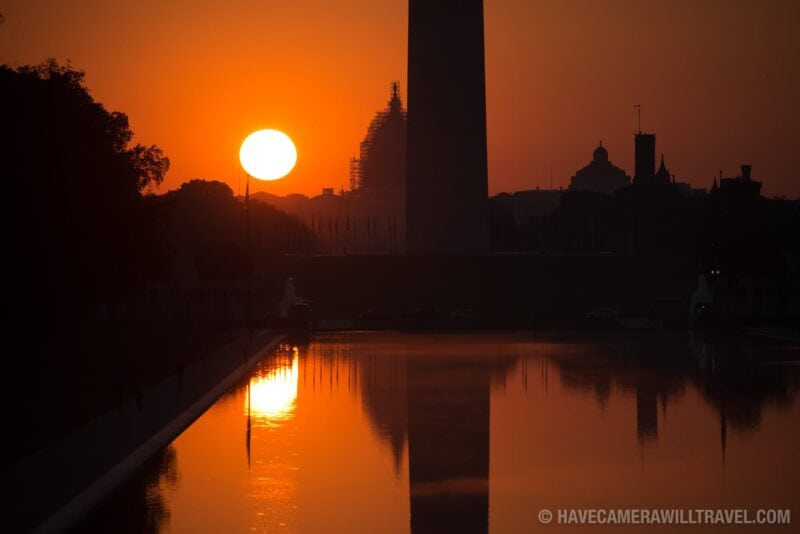 Sunrise at the Lincoln Memorial Reflecting Pool