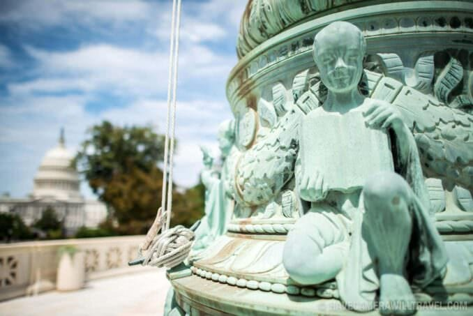 Supreme Court Flag Pole Sculpture with Capitol Dome. 197-15501646