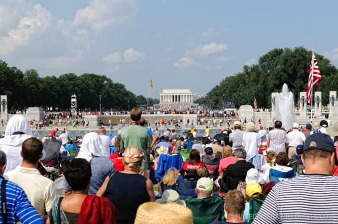 Tea Party Rally view from World War II Memorial