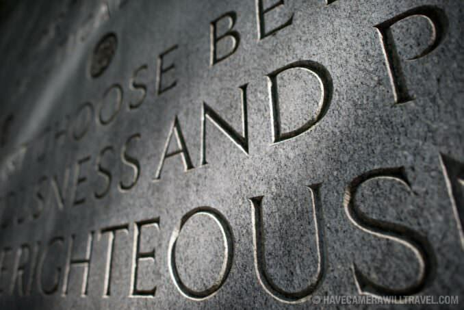 Theodore Roosevelt Memorial Inscription