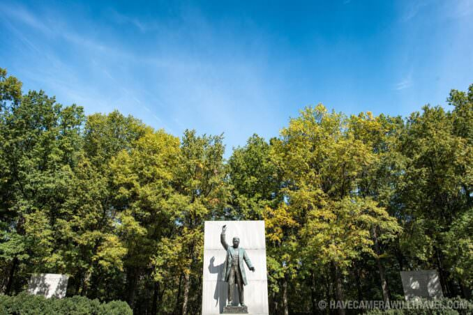 Theodore Roosevelt Memorial Statue Wide Shot