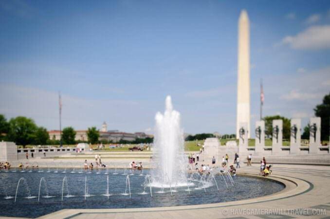Tilt shift at World War II Memorial