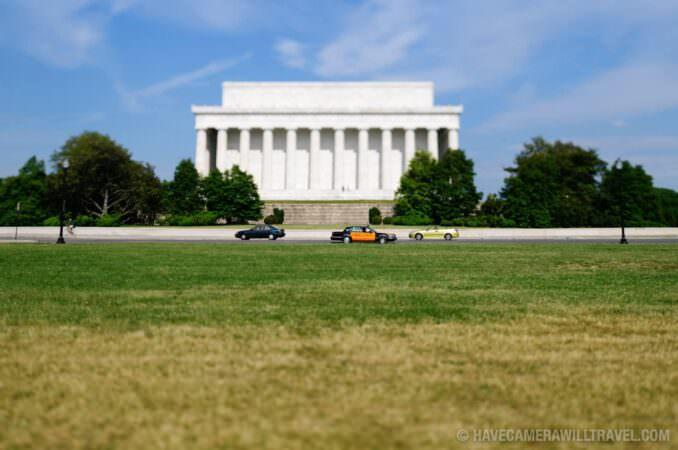 Tilt shift of Lincoln Memorial