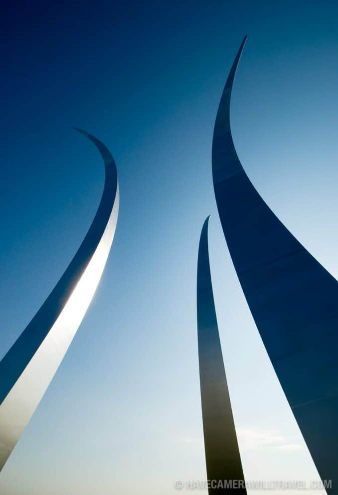 United States Air Force Memorial, Arlington, Virginia.