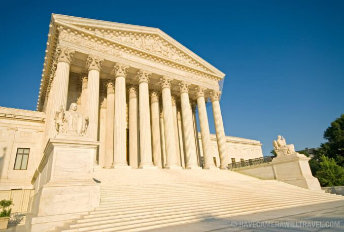 US Supreme Court building on a clear day