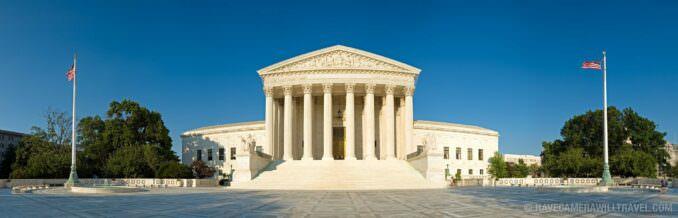 US Supreme Court Building Panorama