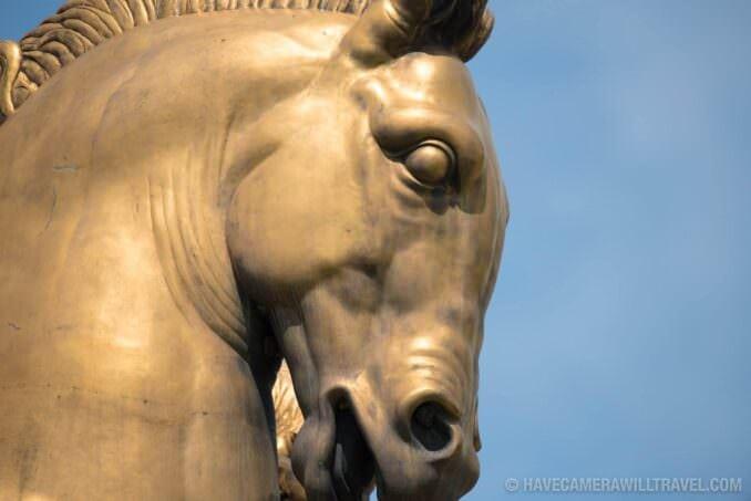 Valor Statue in Arts of War and Peace on Arlington Memorial Bridge in Washington DC