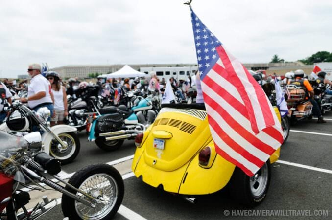 VW Customized Bike at Rolling Thunder Motorcycle Rally