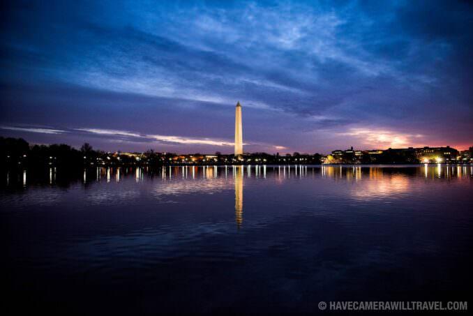 Washington Monument Before Dawn Reflected on the Tidal Basin