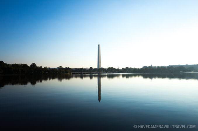 Washington Monument Reflected on Tidal Basin