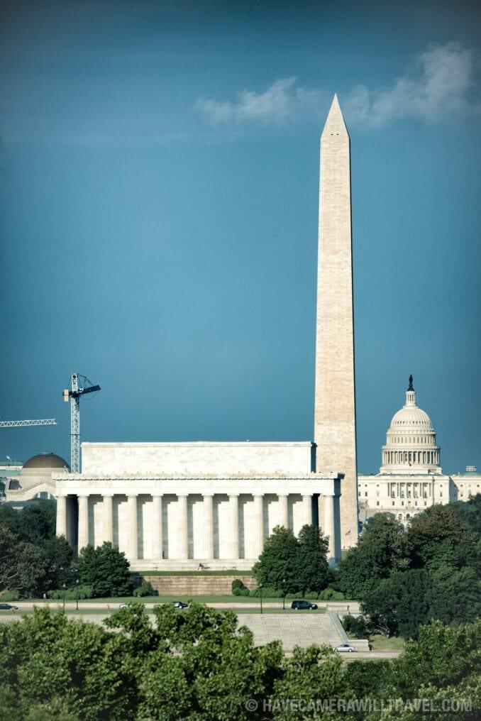 Washington Monuments: Lincoln Memorial, Washington Monument, and US Capitol Dome