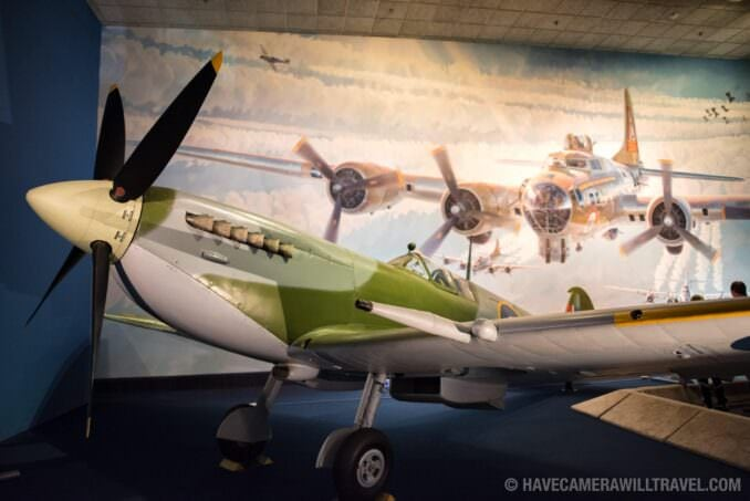 World War II Fighter Plane at the Smithsonian National Air and Space Museum in Washington DC