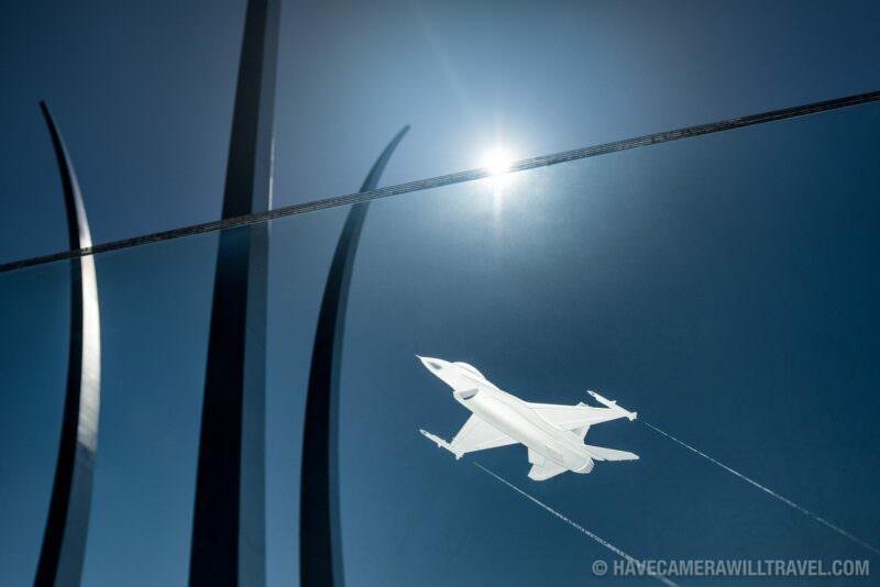 US Air Force Memorial in Arlington VA F-16 Etched in Glass