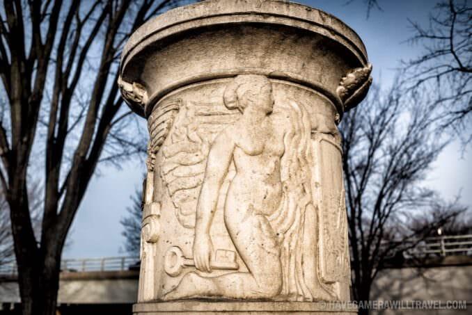 Detail of the Cuban Friendship Urn in Washington DC