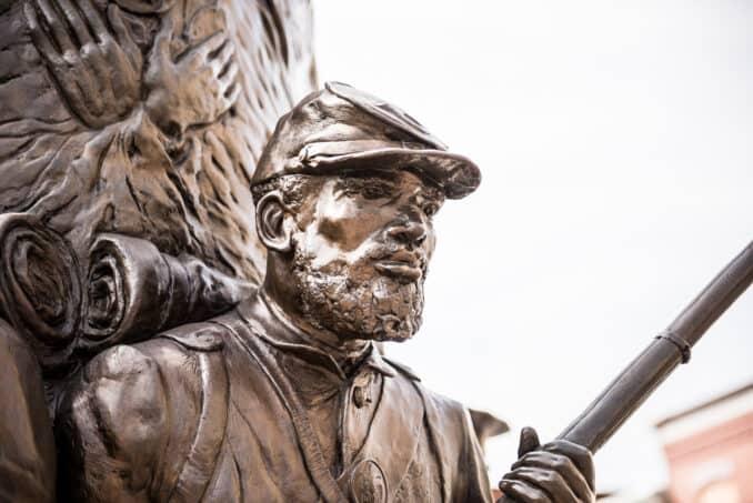 Statue at the African American Civil War Memorial in Washington DC